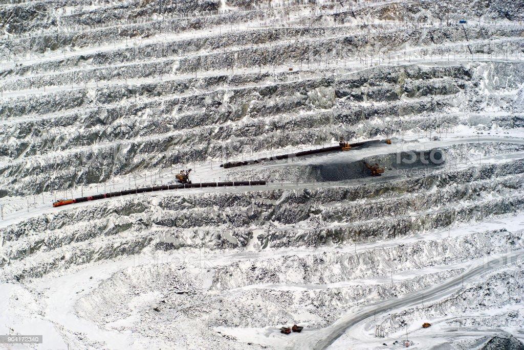 vue de dessus de la section de l'exploration minérale - Photo