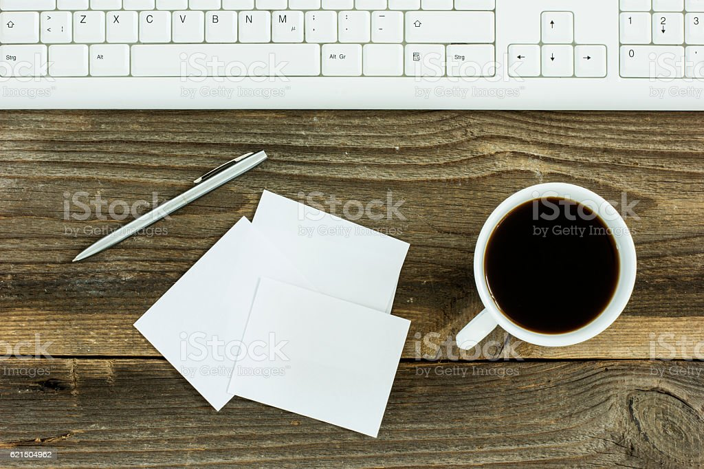 Top view of the office desk. foto stock royalty-free