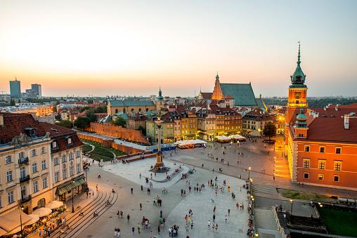 Top View Of The Old Town In Warsaw Stok Fotoğraflar & 2015'nin Daha Fazla Resimleri