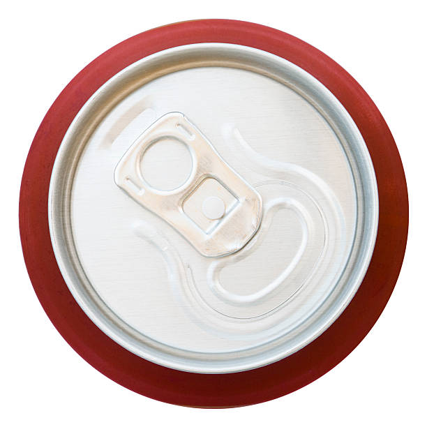 top view of unopened aluminium drinks can - bovenste deel stockfoto's en -beelden
