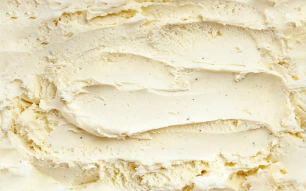 香草霜淇淋表面的頂部視圖 - 雪糕 個照片及圖片檔