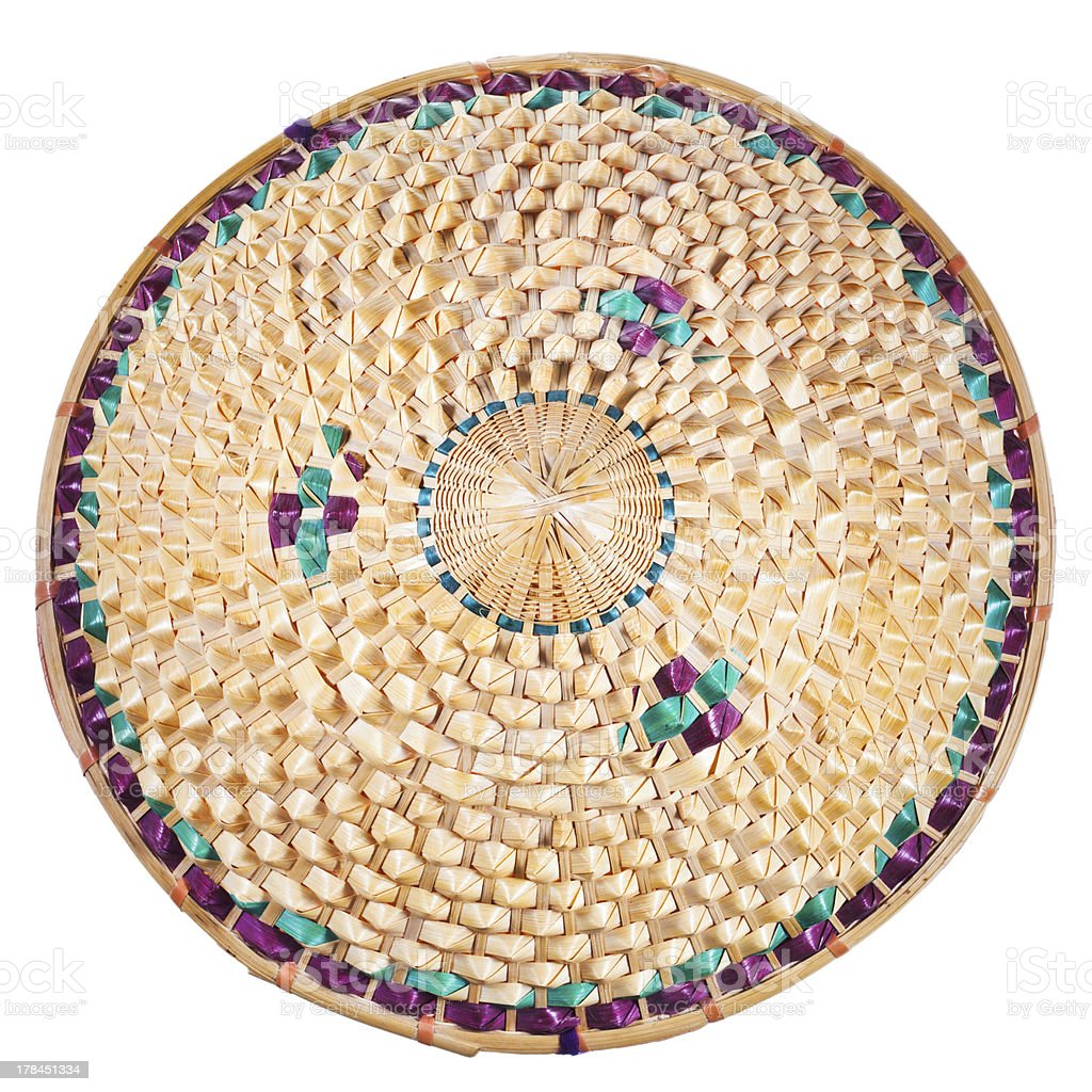 top view of vietnamese style straw hat stock photo