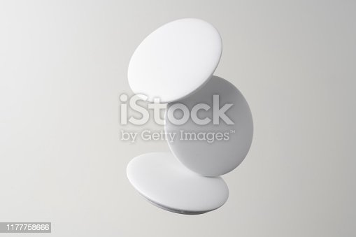istock top view of white badge on white background 1177758666