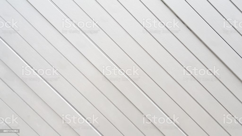 Top view Of white wood, Diagonal wood board stock photo
