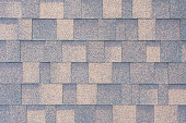 Top view on a flexible tiles on the roof as texture, background