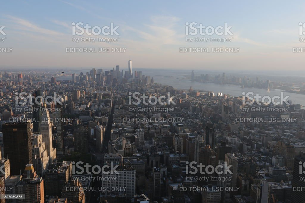 Top view on New York. America, New York City - May 13, 2017 stock photo