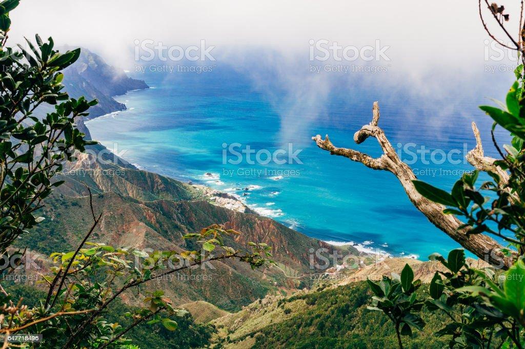 Draufsicht auf den nördlichen Küstenabschnitten von Teneriffa – Foto