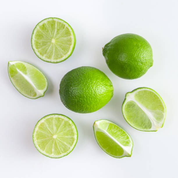top view on the Lime lime,lemon,citrus,green,fruit lime stock pictures, royalty-free photos & images