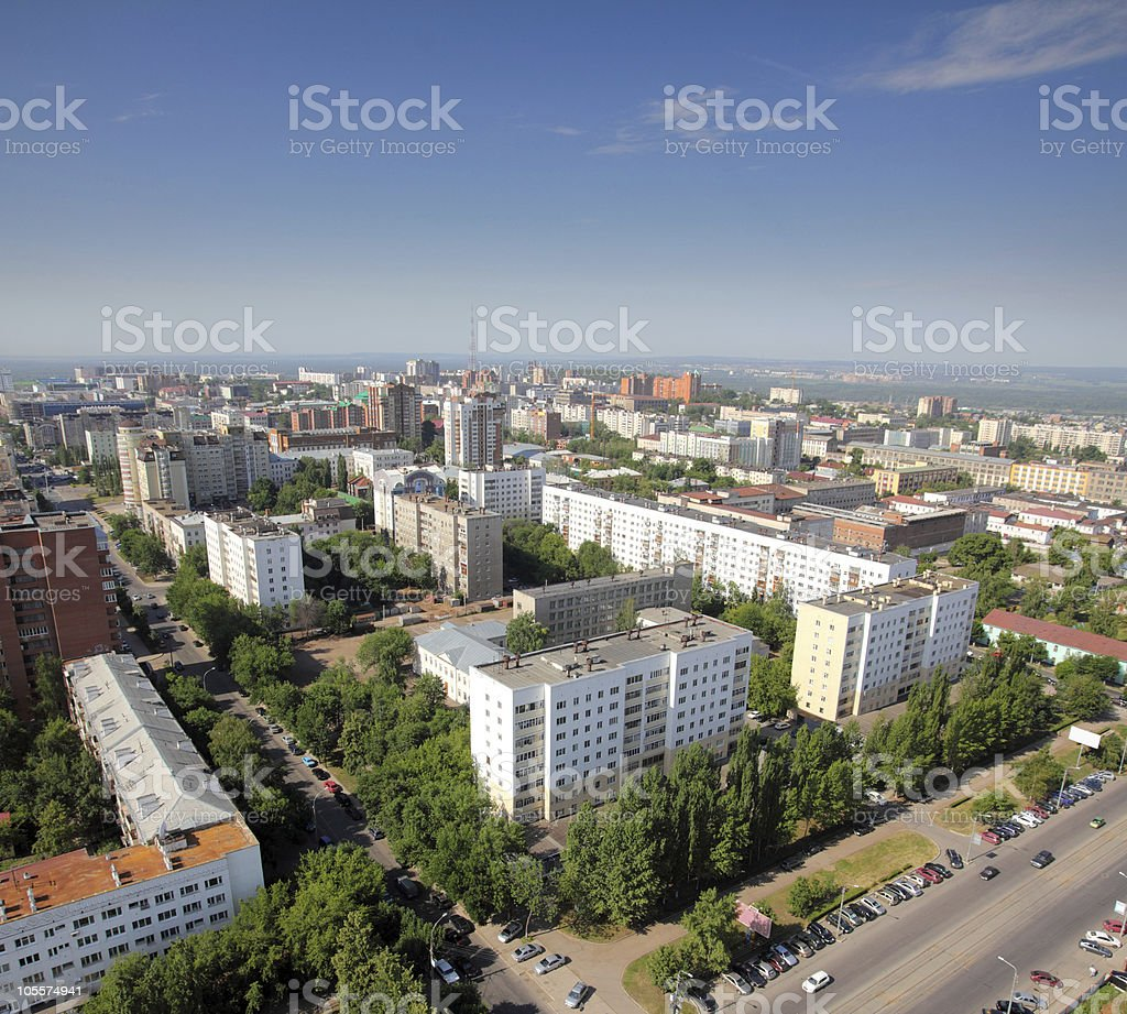 top view on the panorama of city royalty-free stock photo