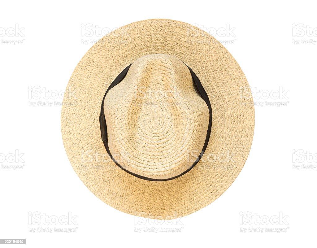 Vista dall alto Cappello panama isolato su sfondo bianco foto stock  royalty-free 75b859e1ab02