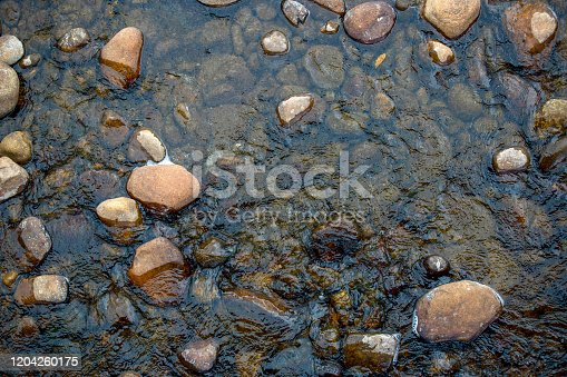 Top view photography of  river rocks captured at the El Valle river in the south of the department of Santander in Colombia