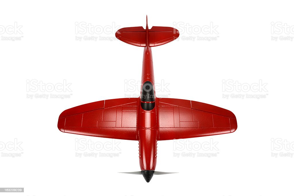 Top View Red RC Plane stock photo