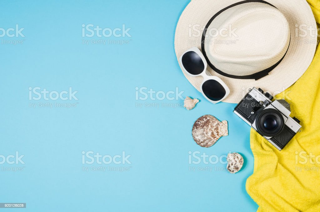 Top view sandy beach concept. Graphical background with copy space stock photo