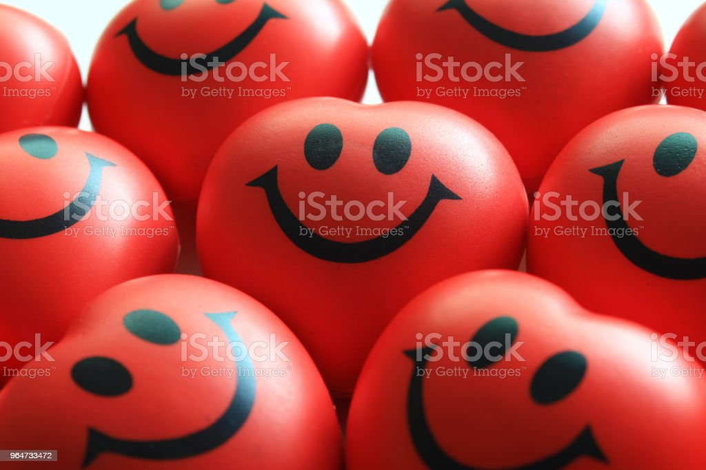 Top view Smile red rubber smile royalty-free stock photo