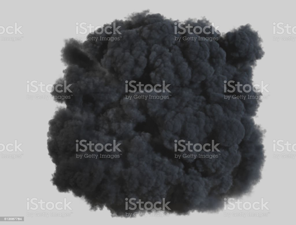 Top view smoke explosion with clipping path stock photo