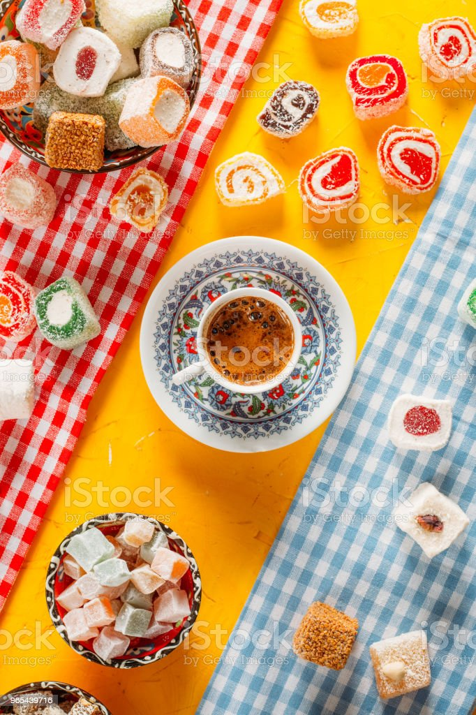 Top View Turkish Coffee royalty-free stock photo