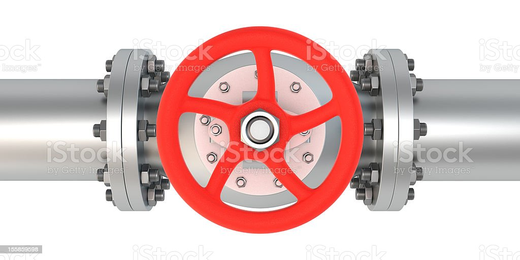 Top view valve royalty-free stock photo