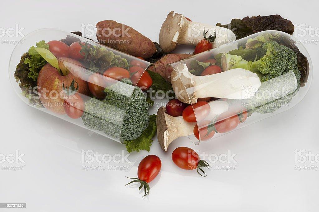 Vegetales vista superior de la cápsula - foto de stock