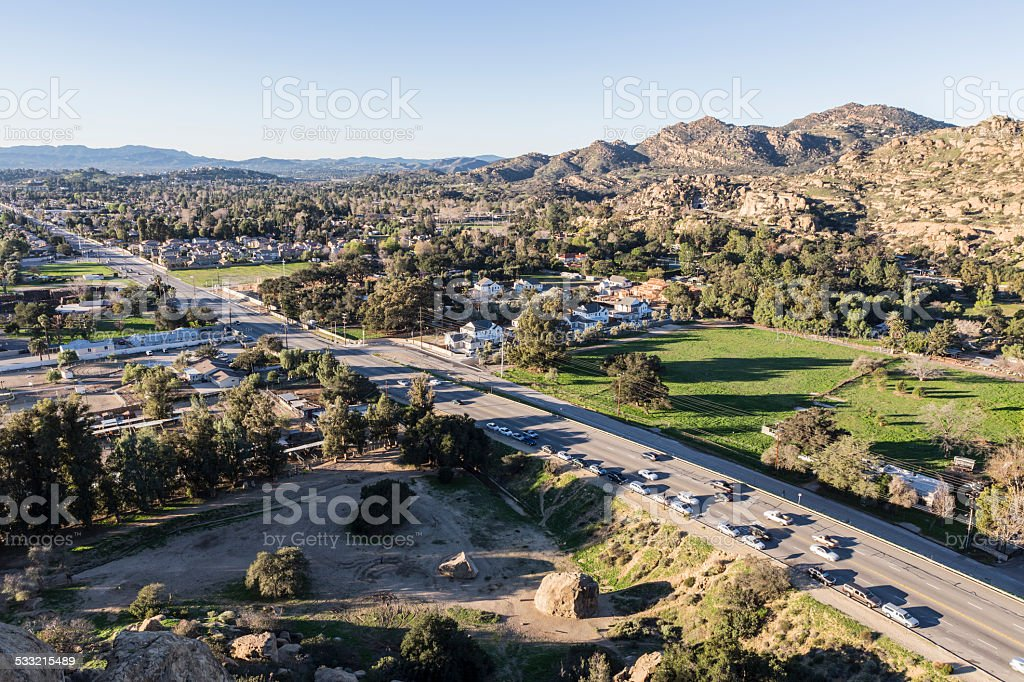 Topanga Canyon Boulevard in Los Angeles stock photo