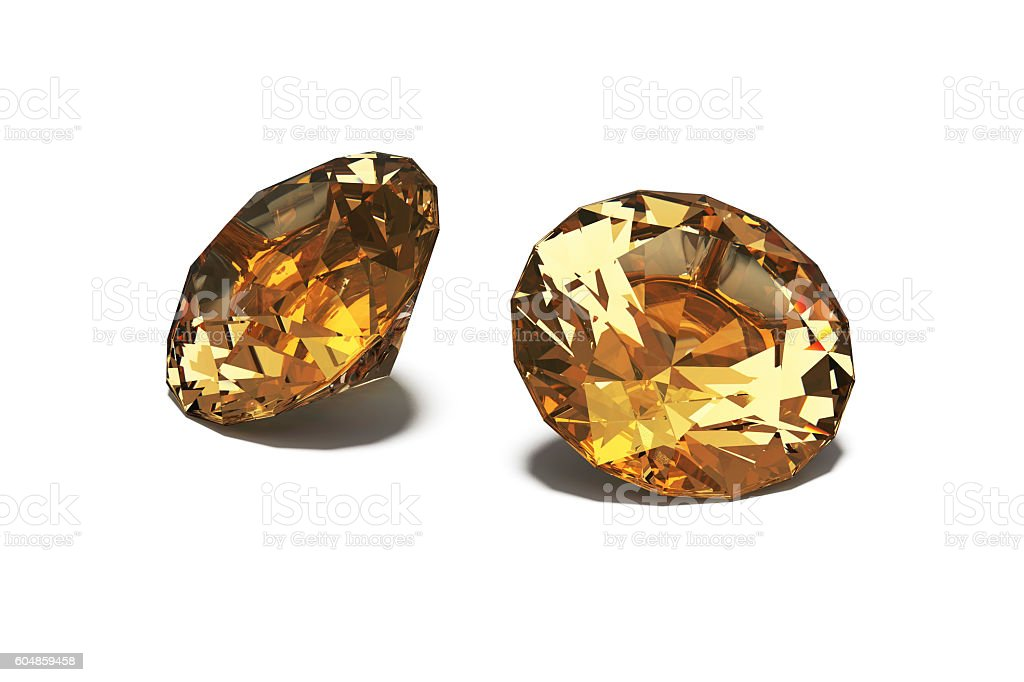 Topaz, Jewels, isolated on White stock photo