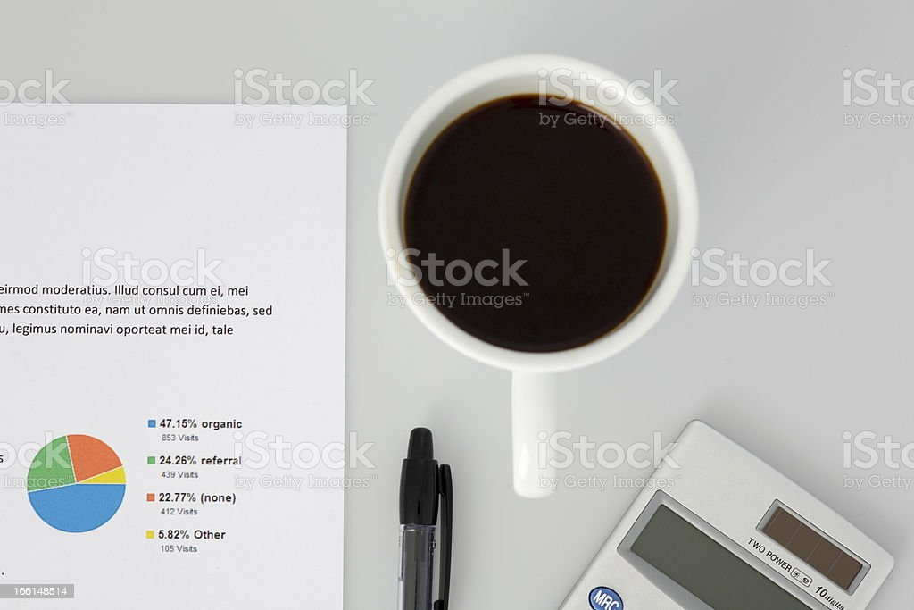 Top-down Perspective of White Desktop royalty-free stock photo