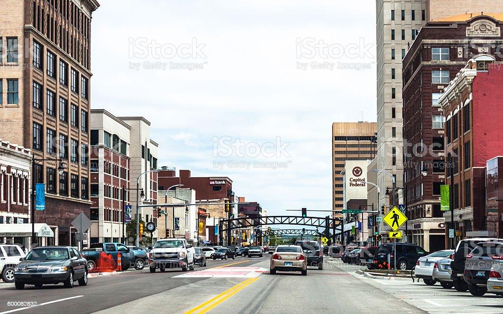 Topeka downtown, Kansas. stock photo