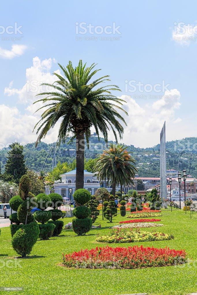 Topiary garden in Batumi. Republic of Georgia Lizenzfreies stock-foto