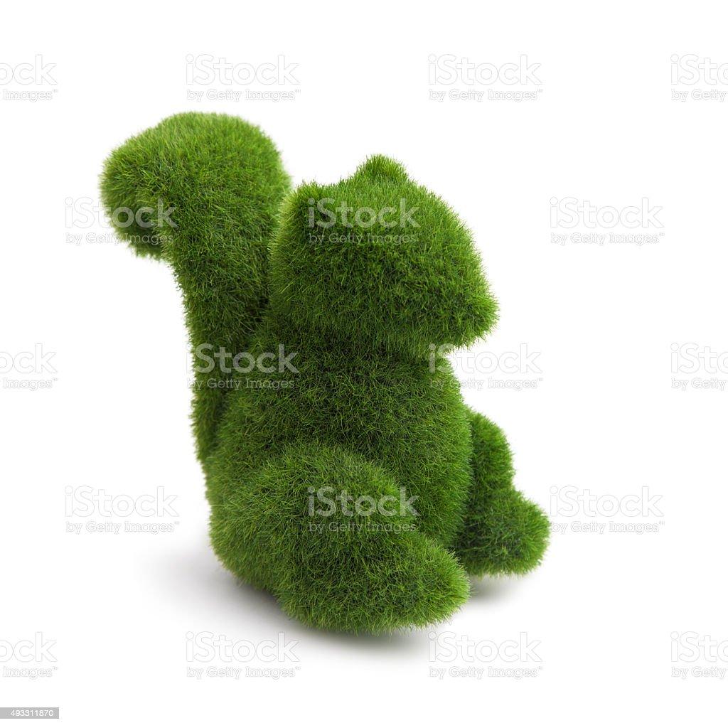 Topiary Squirrel animal stock photo