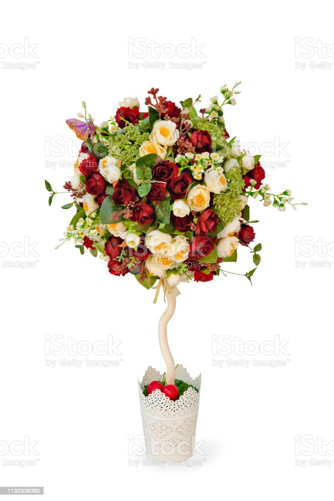Topiary Tree Made Of Artificial Flowers Stock Photo Download Image Now Istock