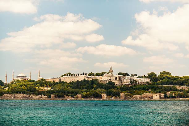 Topkapi Palace and Aya Sophia Mosque stock photo