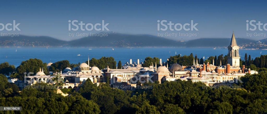 Topkapi Palace in Istanbul City stock photo