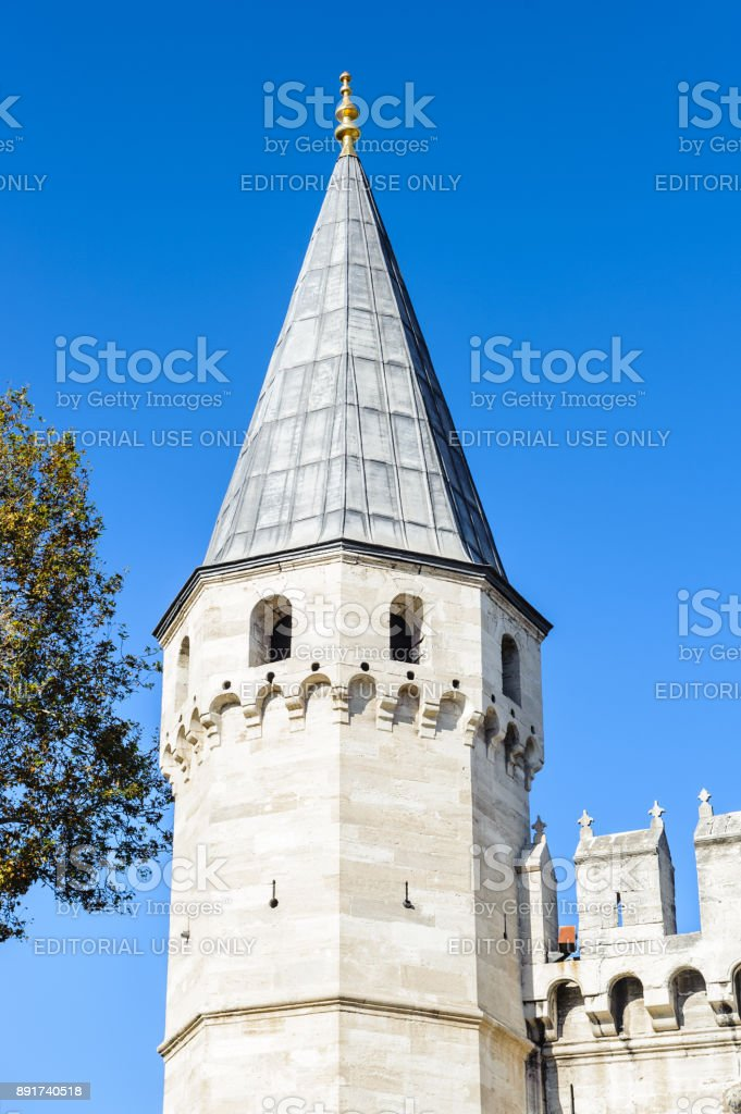 Topkapi Palace, the primary residence of the Ottoman Sultans, Istanbul, Turkey stock photo
