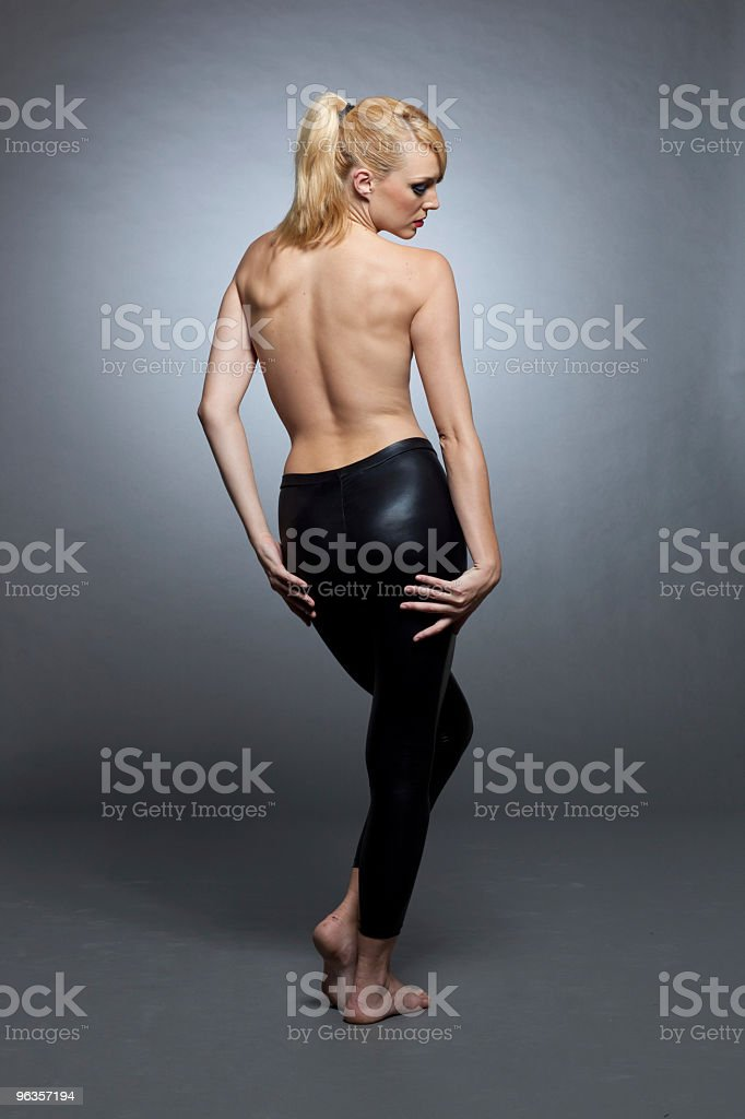 Topless back royalty-free stock photo