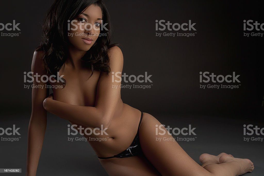 Topless beautiful woman royalty-free stock photo
