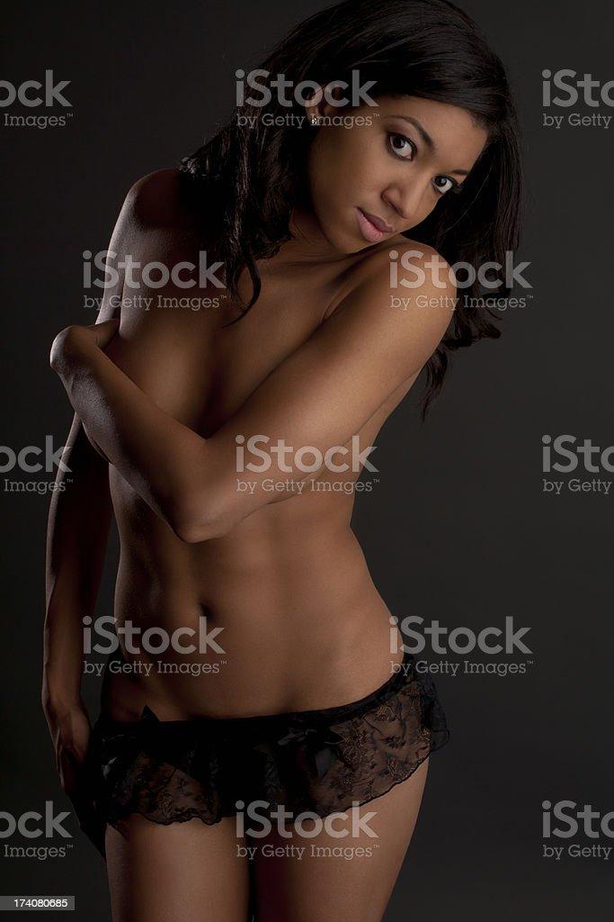 Topless beautiful woman royalty-free stock photo