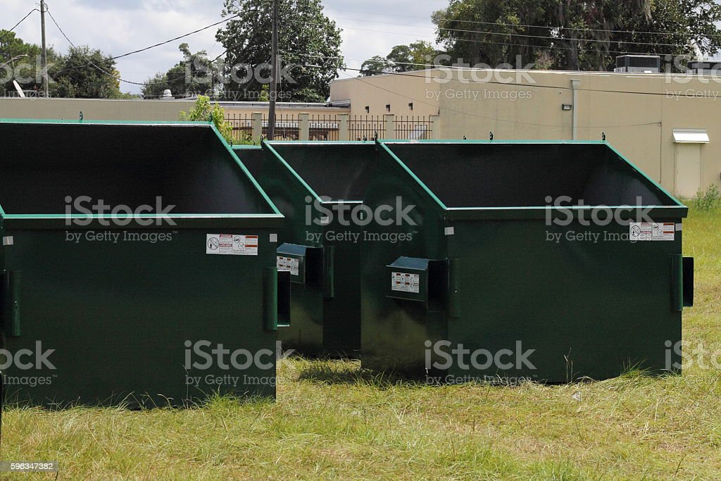 Topless Dumpsters royalty-free stock photo