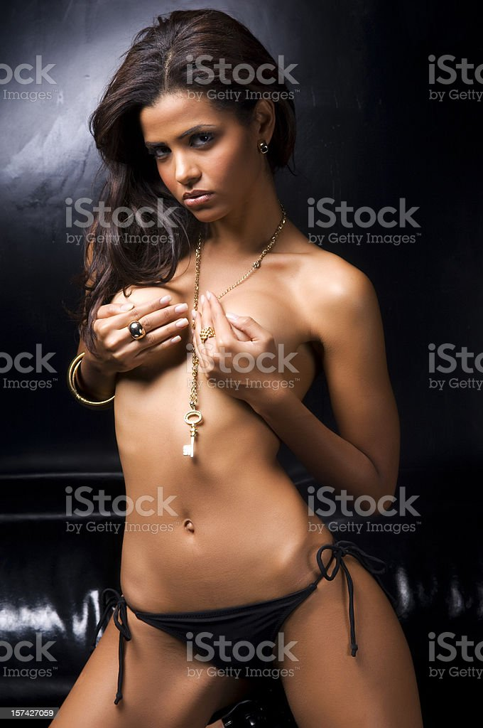 topless girl! stock photo