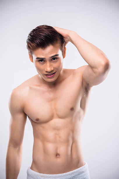 Naked Asian Male Stock Photos, Pictures & Royalty-Free