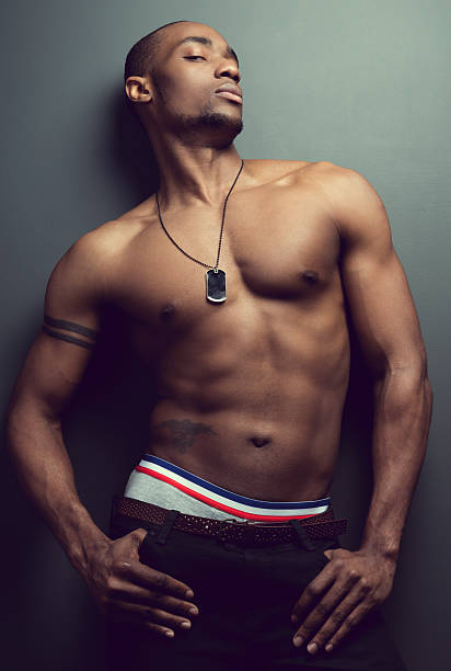Best Beautiful Naked Black Men Stock Photos, Pictures