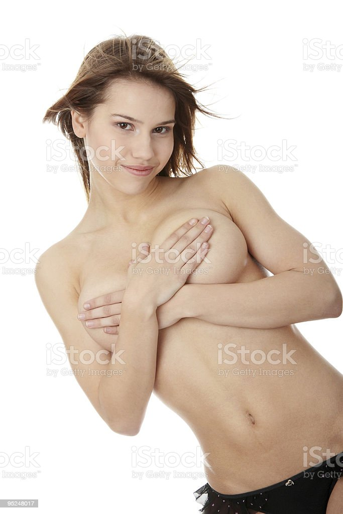 Topless woman royalty-free stock photo