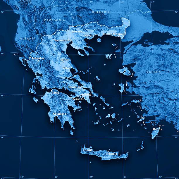 Topographic Map Greece Stock Photo Istock