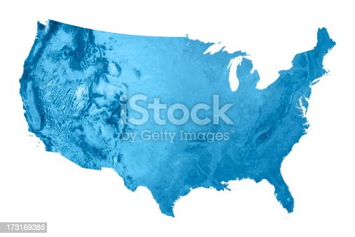 istock USA Topographic Map Isolated 173169385