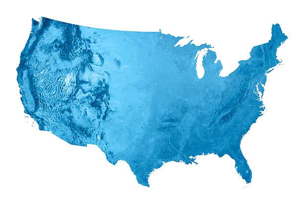 미국 topographic 맵 격리됨에 - 미국 뉴스 사진 이미지