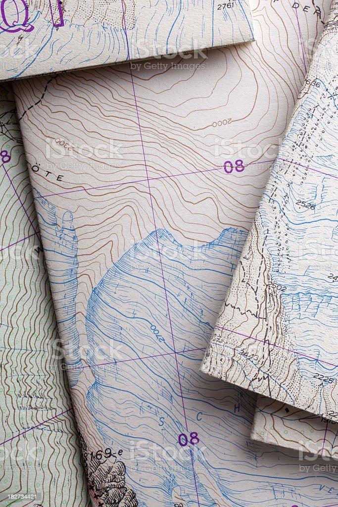 Topographic map mountain royalty-free stock photo