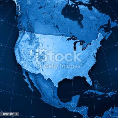 istock USA Topographic Map 186815169