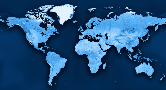 istock Topographic World Map Political Divisions 165935645