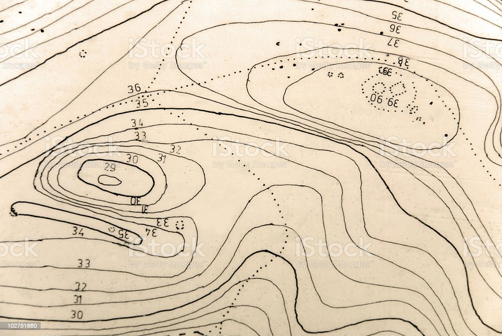Topographical map royalty-free stock photo