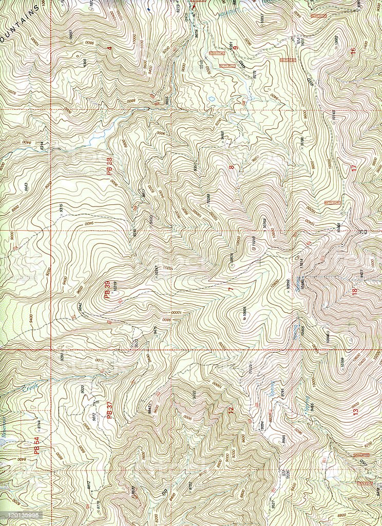 Topographical Map (Extra Large) stock photo