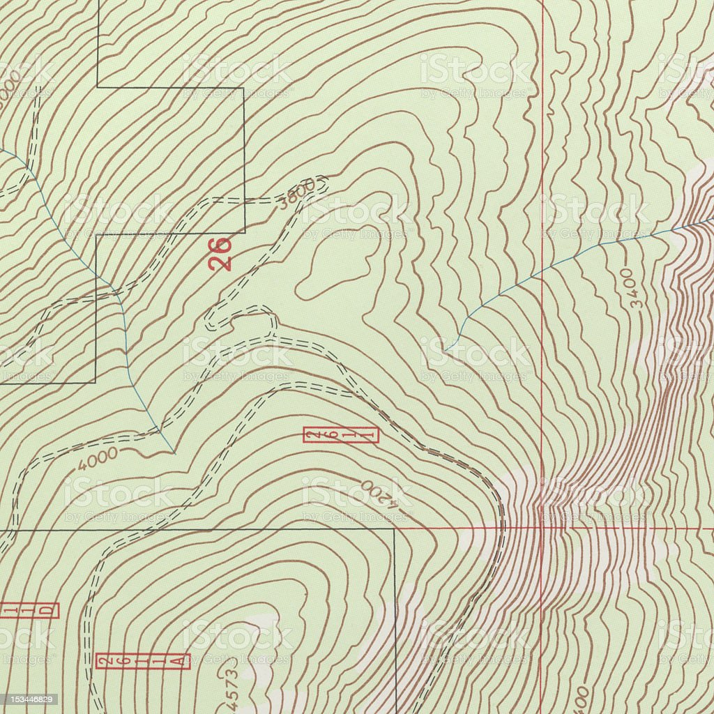 Topographical Map stock photo