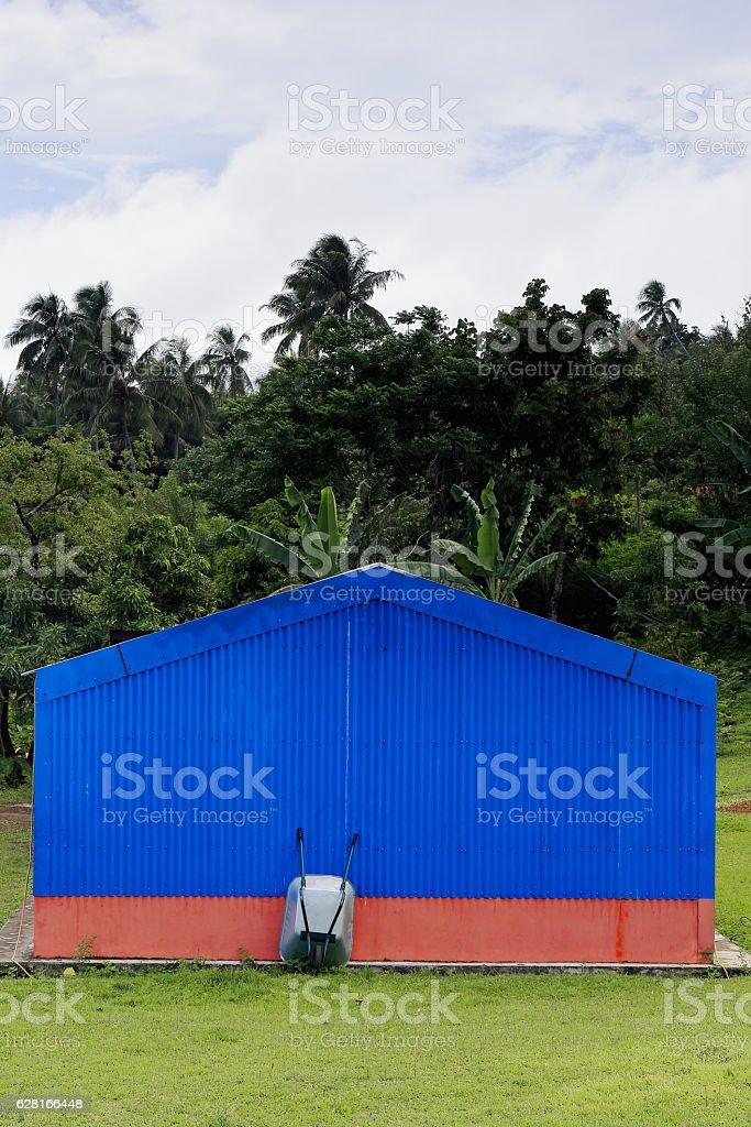 Topol school in Newa village. North Ambrym island-Vanuatu. 6198 stock photo
